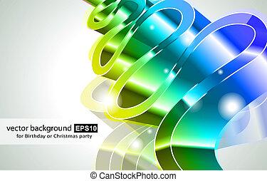 den geniale, farver, abstrakt, glød, lys