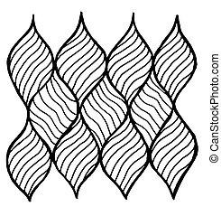 den, geometriskt mönster, av, waves., vektor, bakgrund.