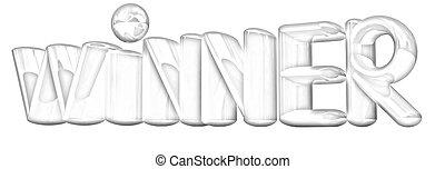 """den, glose, """"winner"""""""