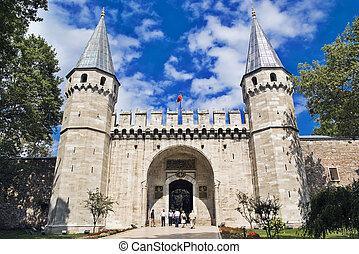 den, grind, av, hälsning, topkapi palats, istanbul