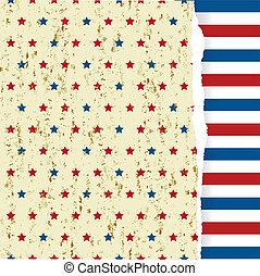 den, gul, grunge, mönster, med, amerikansk symbol