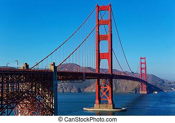 den, gylden låge bro, ind, san francisco
