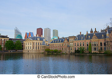 city center of Den Haag - old and new, Netherlands