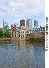 Den Haag, Netherlands - city center of Den Haag Mauritshuis...