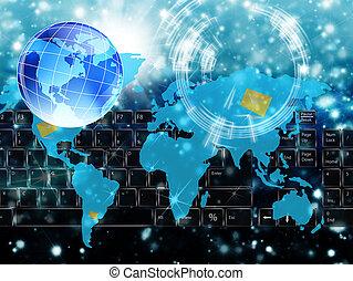 den, high tech, internet