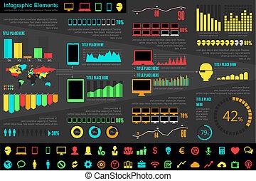 den, industri, infographic, elementara