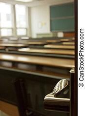 den, klassrum, in, porslin