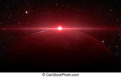 den, mars, soluppgång