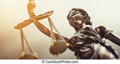 den, statue, i, retfærdighed, symbol, lovlig, lov, begreb, image