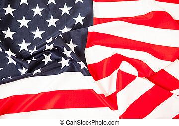 den, storhet, av, america., röda vita, flagga, med, den, stjärnor