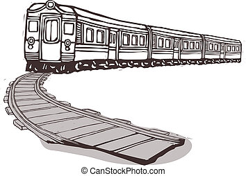den, tog, er, trække
