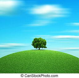 den, träd