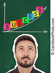 den, väg, till, framgång