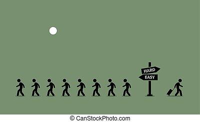 den, vej, lille, traveled.
