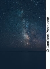 den, vintergatan, över, atlant ocean ocean, sett, från,...