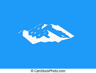 Denali logo. Mount McKinley - Snow mountains peak (Denali)...