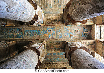 Dendera Temple Egypt - ceilingof the Dendera Temple in Egypt