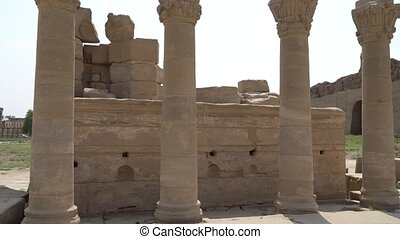 Dendera temple or Temple of Hathor. Egypt. Dendera, Denderah, is a small town in Egypt. Dendera Temple complex, one of the best-preserved temple sites from ancient Upper Egypt.