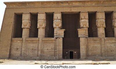 Dendera temple or Temple of Hathor. Egypt. Dendera,...