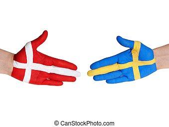 denemarken, en, zweden