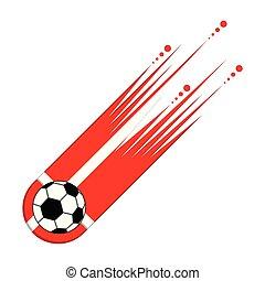 denemarken vlag, bal, voetbal