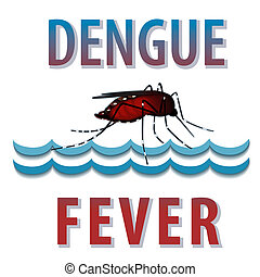 Dengue fever mosquito, infectious virus disease, standing water, isolated on white background graphic illustration. EPS8 includes gradient mesh.
