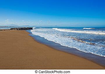 Denia beach Las Marinas in Mediterranean Alicante of Spain
