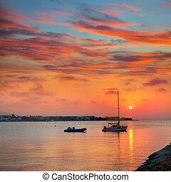 Denia beach sunset Mediterranean Alicante Spain - Denia ...