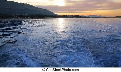 Denia sunset in sea reflection - Denia sunset in Alicante...
