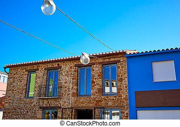 Denia Village mediterranean facades in Alicante Spain