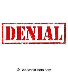 Denial-stamp - Grunge rubber stamp with text Denial, vector ...