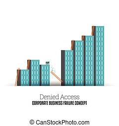 Denied Access - Vector illustration of several people ...
