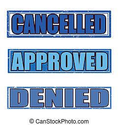 denied grunge stamp whit on vector illustration