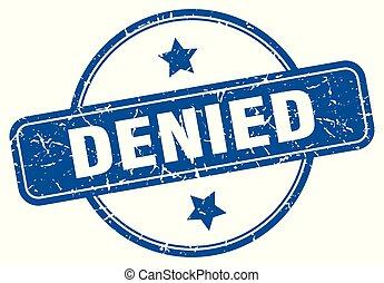 denied round grunge isolated stamp
