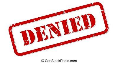 Denied Rubber Stamp Vector
