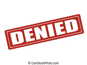 Denied - Rubber stamp with word denied inside, vector ...