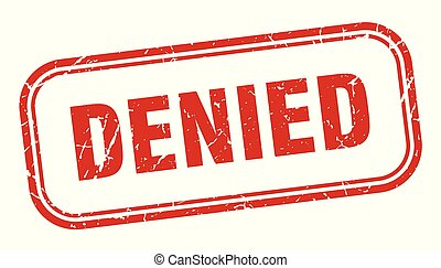 denied stamp. denied square grunge sign. denied