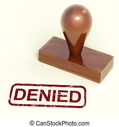 Denied Stamp Showing Rejection Or Refusing