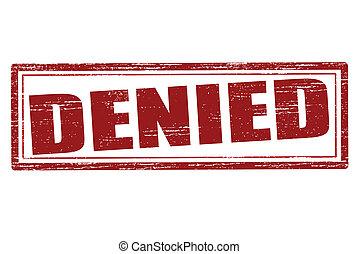 Denied - Stamp with word denied inside, vector illustration