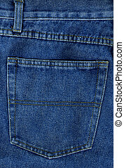 Denim 2 - Blue denim jeans in detail