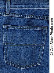 Denim 2 - Blue denim jeans in detail