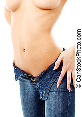 denim #2 - classical blue jeans image of fit lady