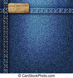 Denim background. Vector realistic texture