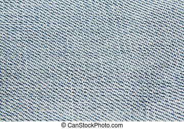 Denim, blue jean material