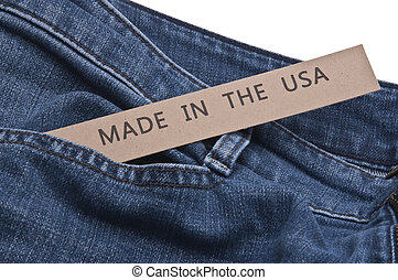 Denim Blue Jeans Made in the USA