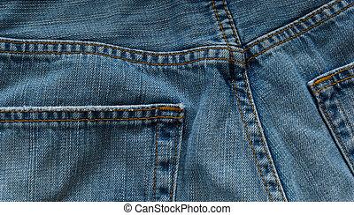 Denim blue jeans - Denim blue jean background