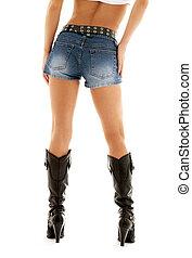 denim, carregadores vaqueiro, shorts