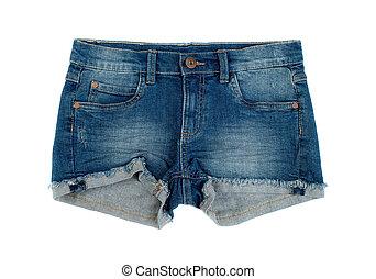 denim, corto, shorts.