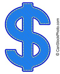 Denim dollar symbol - Illustration of the abstract denim...