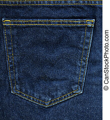 Denim Fabric Texture - Blue Pocket - High resolution scan of...